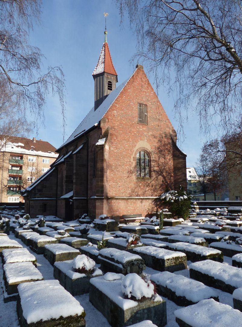 Rochusfriedhof<p>Der verschneite Rochusfriedhof mit Kapelle von Nordost<br></p>