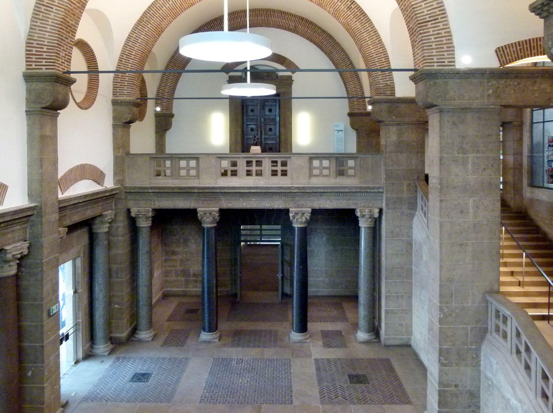 Germanisches Nationalmuseum ehemalige Haupteingangshalle, Blick von der Empore