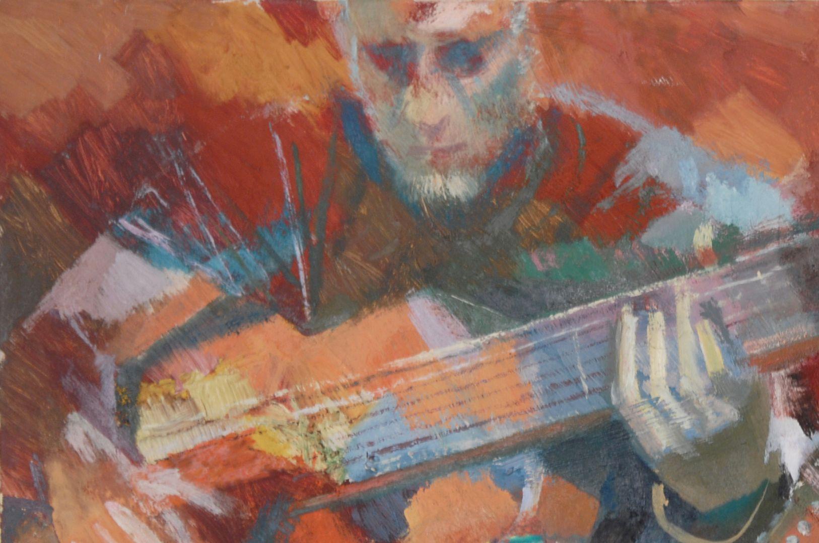 Der Gitarrenspieler Detailansicht