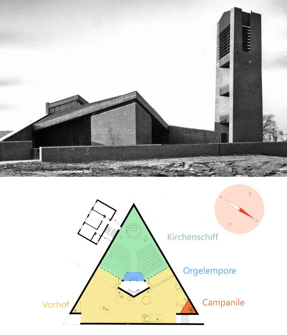 Himmelfahrtskirche Bebauungsplan mit Raumfunktionen