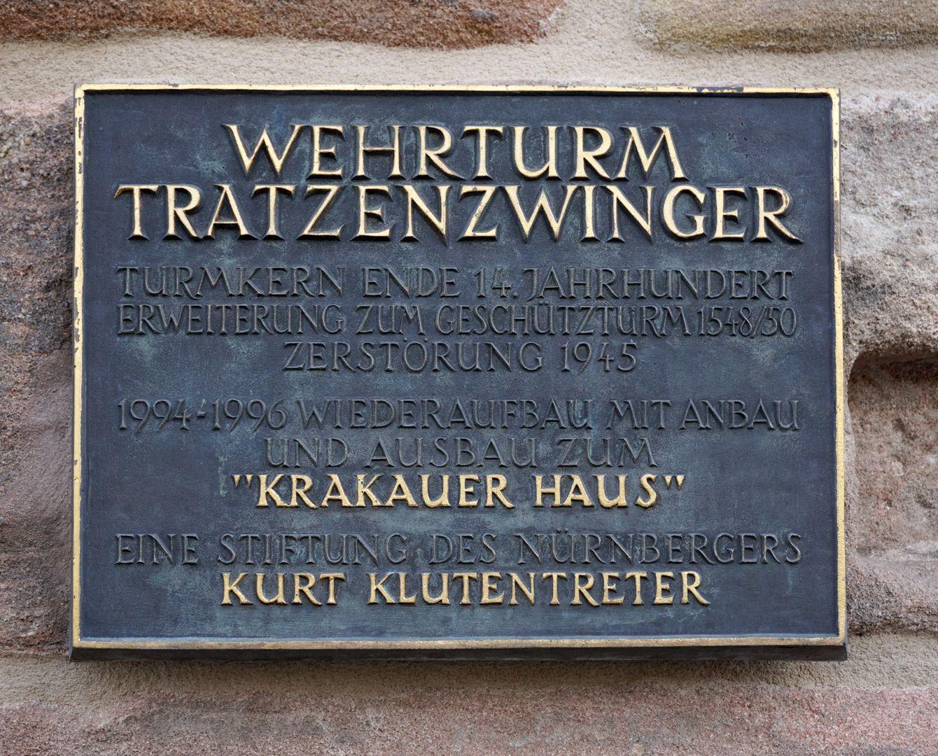 Wehrturm (Schwarz Z) Stiftertafel