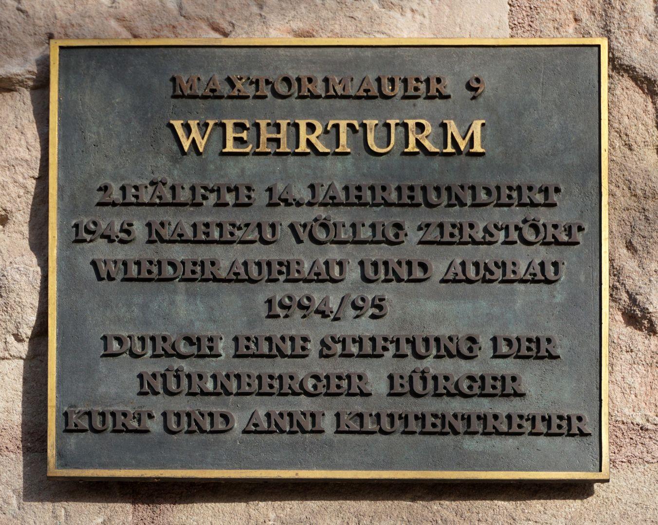 Wehrturm (Schwarz H) Stiftertafel