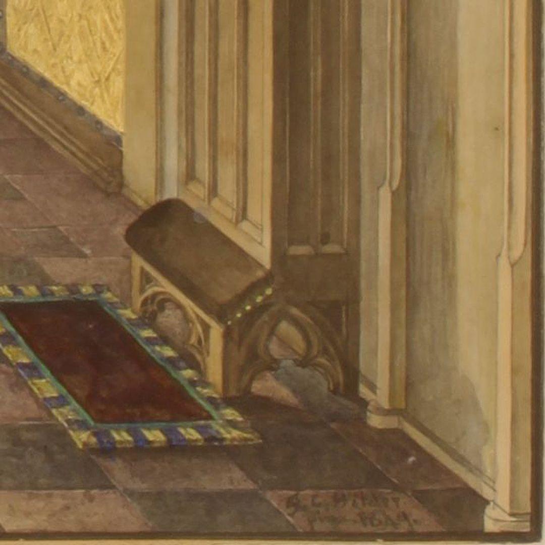 Hauskapelle Adlerstrasse 9 Signatur von G. C. Wilder in der rechten unteren Bildecke