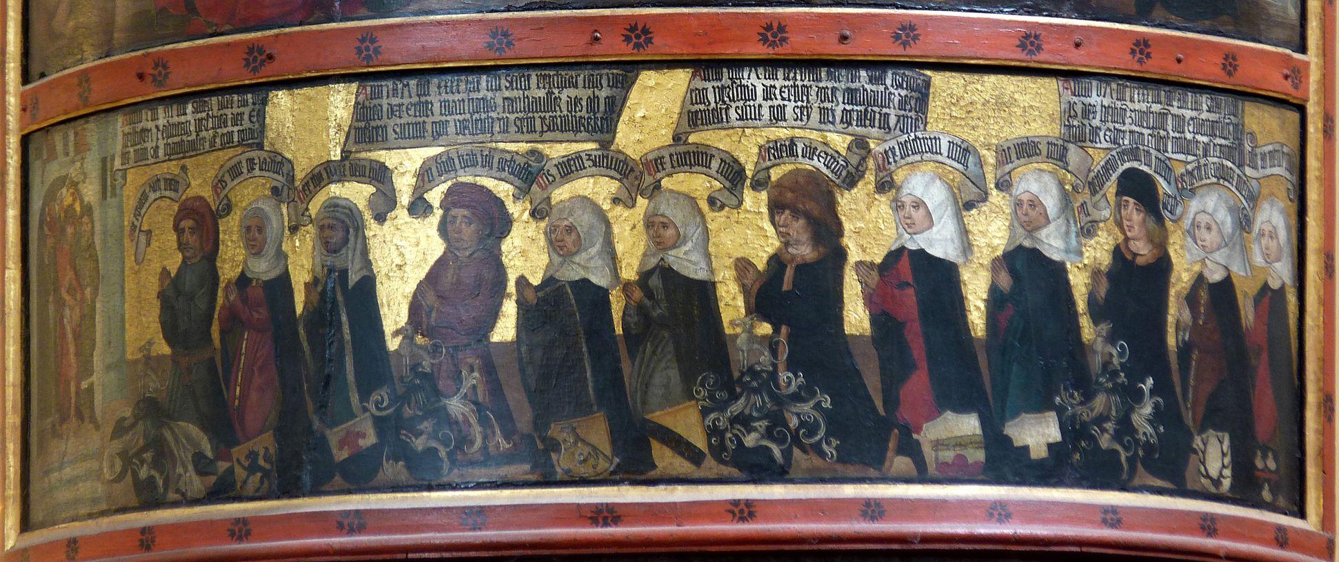Thanhauser Epitaph Stifterfamilie