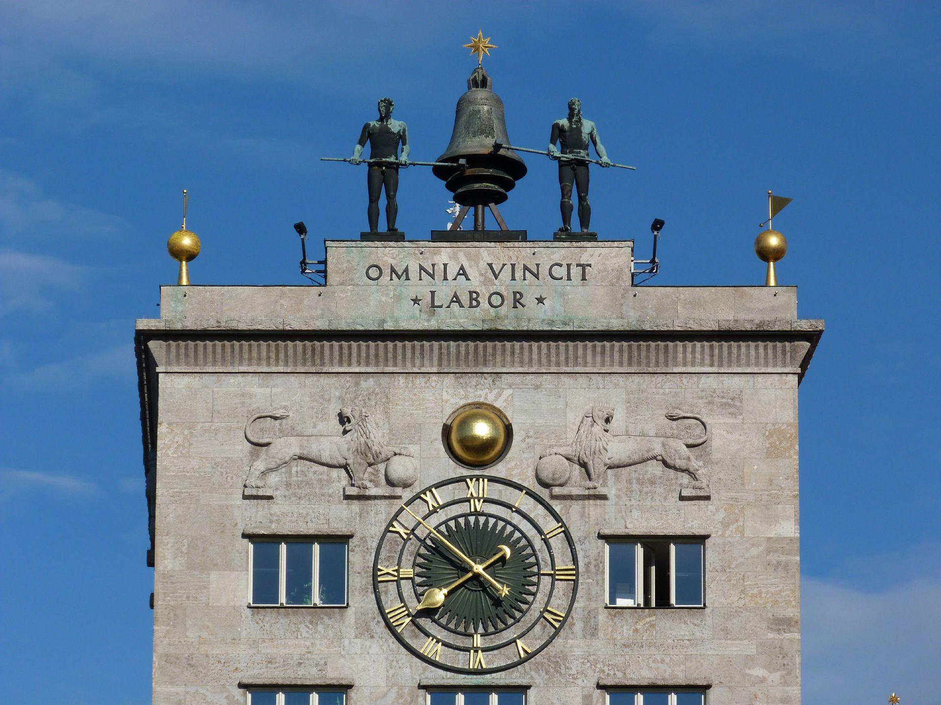 Bankhochhaus Kroch (Leipzig) Turmbekrönung (das oberste Geschoss entspricht dem ehem. Sitzungssaal)