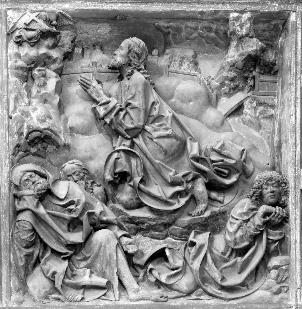 Volckamersche Gedächtsnisstiftung, Reliefplatten Ölberggebet