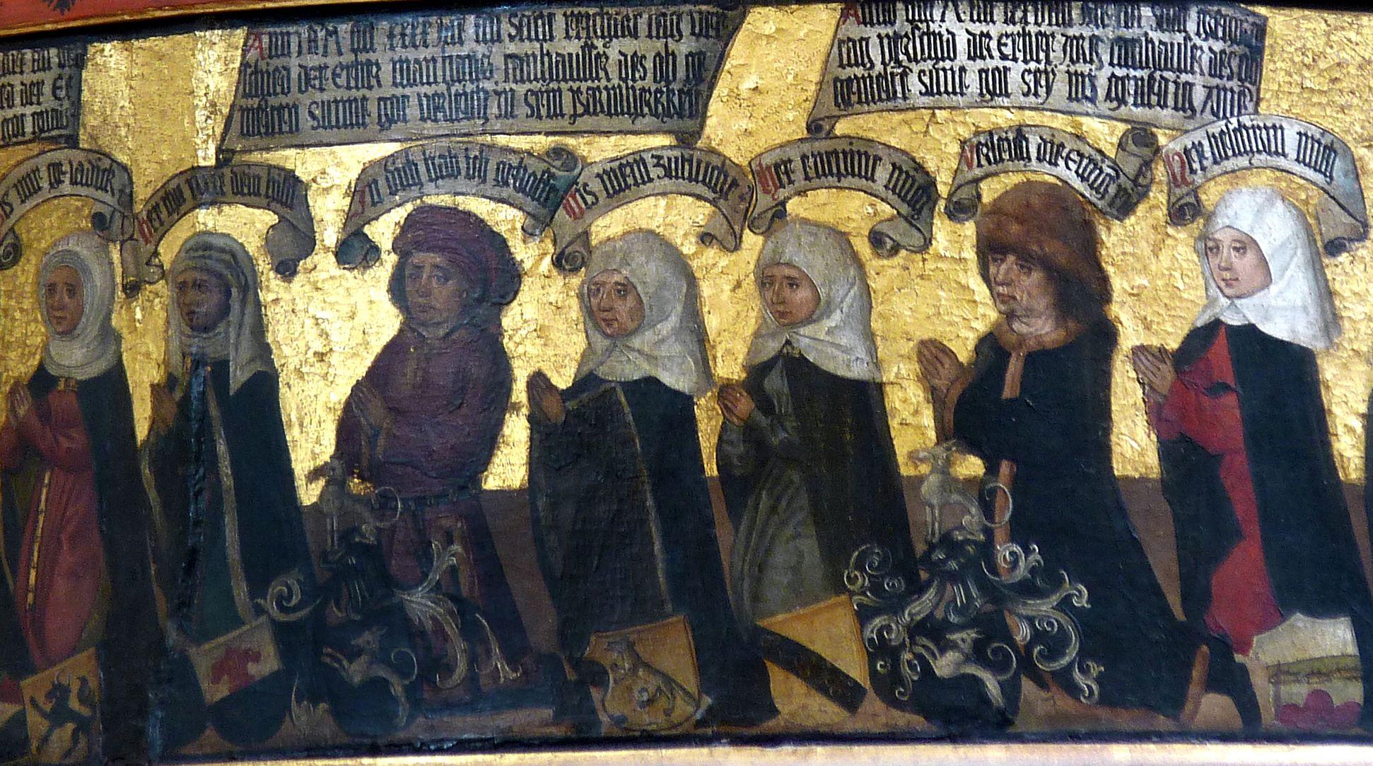 Thanhauser Epitaph Mitglieder der Stifterfamilie