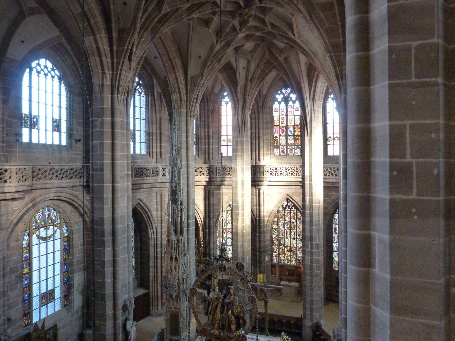 St. Lorenz, Chor Innenansicht vom südlichen Laufgang aus