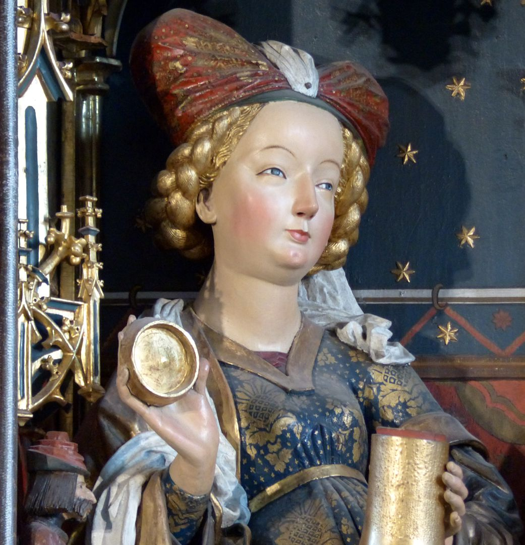 Zwickauer Hochaltarretabel Schrein, Magdalena mit dem Salbgefäß