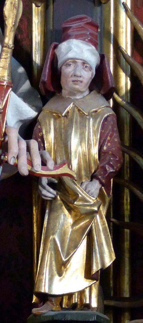Zwickauer Hochaltarretabel Schrein, Prophet ? (rechts von Maria)