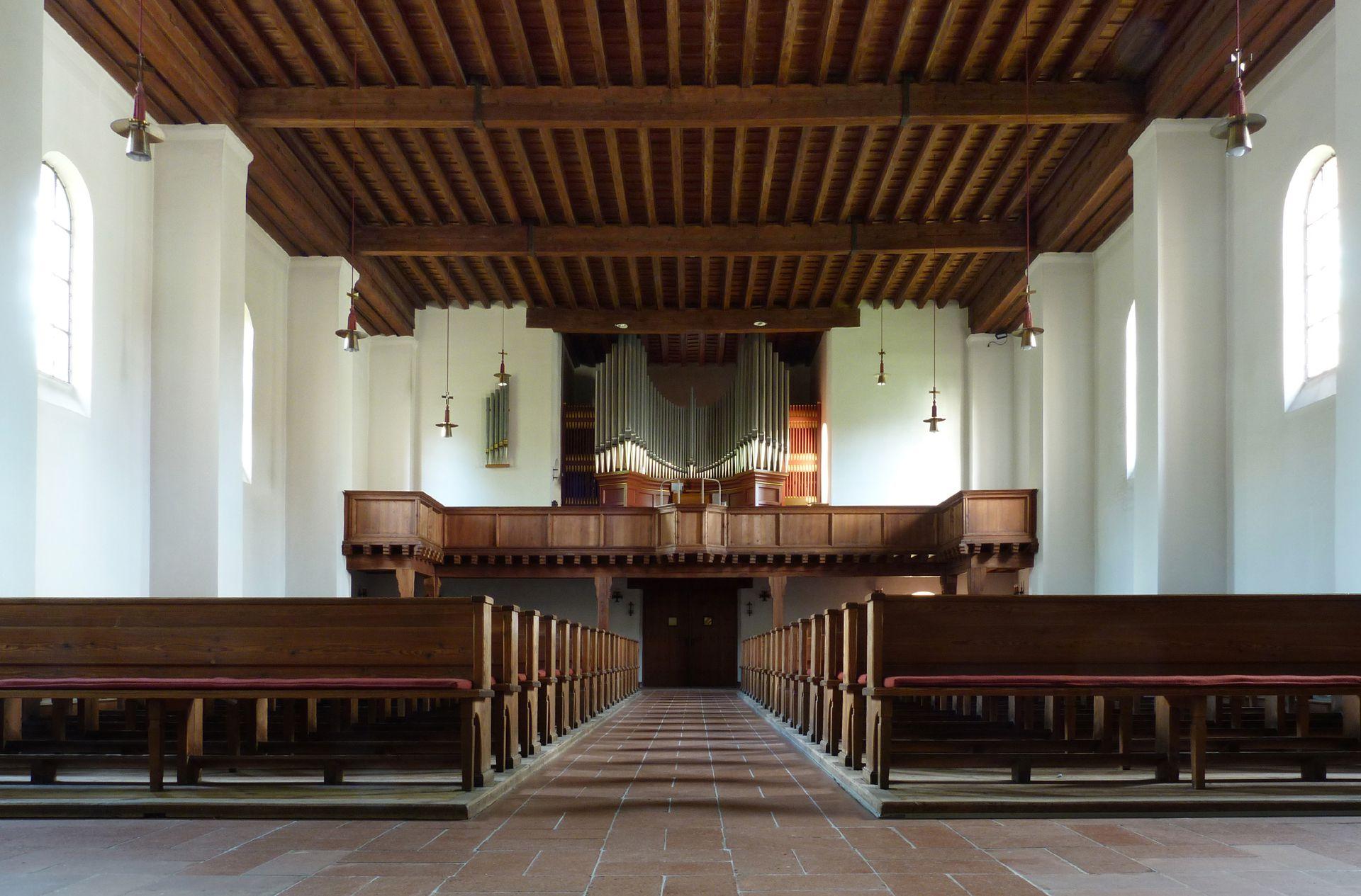 Melanchthonkirche Innenraum zum Eingang