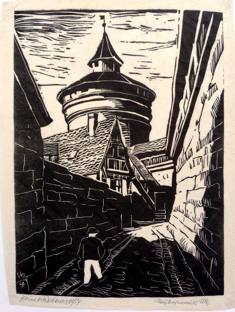 An der Neutormauer mit Neutorturm An der Neutormauer mit Neutorturm