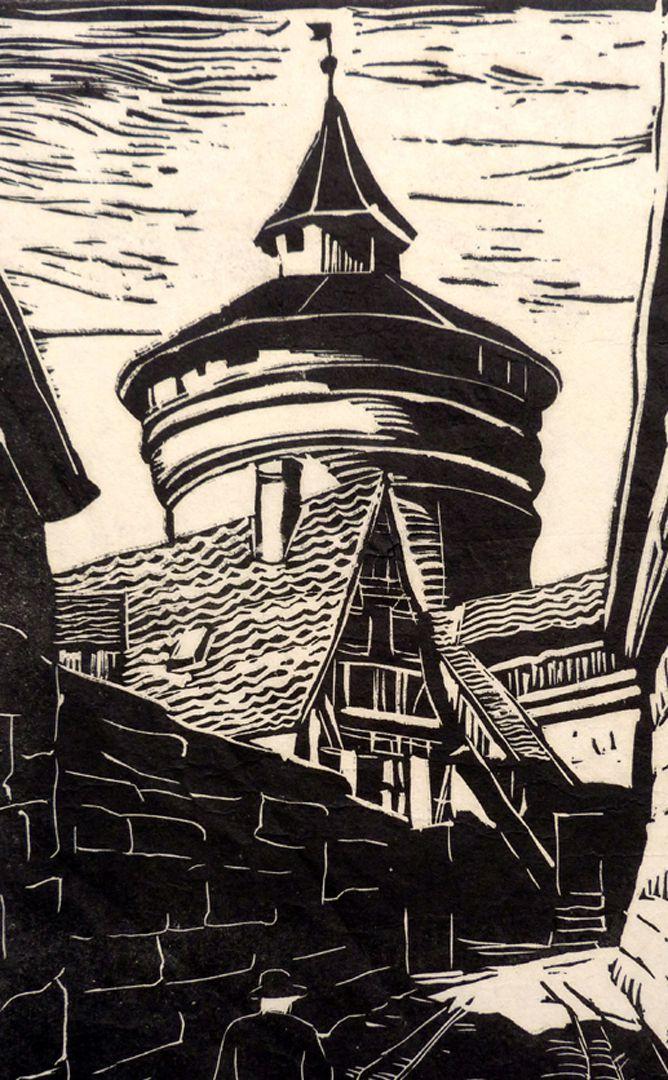 An der Neutormauer mit Neutorturm Detail