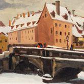 Maxbrücke im Winter