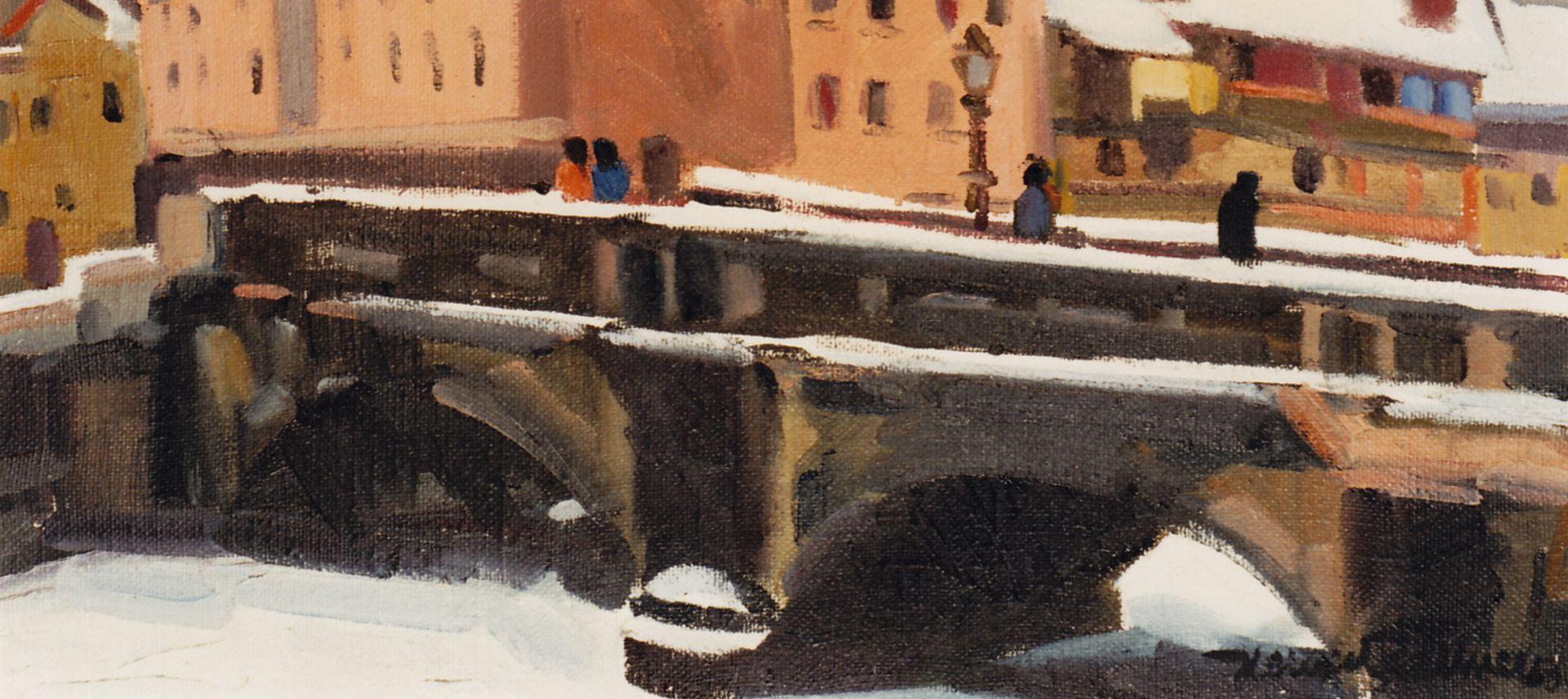 Maxbrücke im Winter Detail