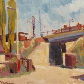 Eisenbahnbrücke am Haltepunkt Rothenburger Straße