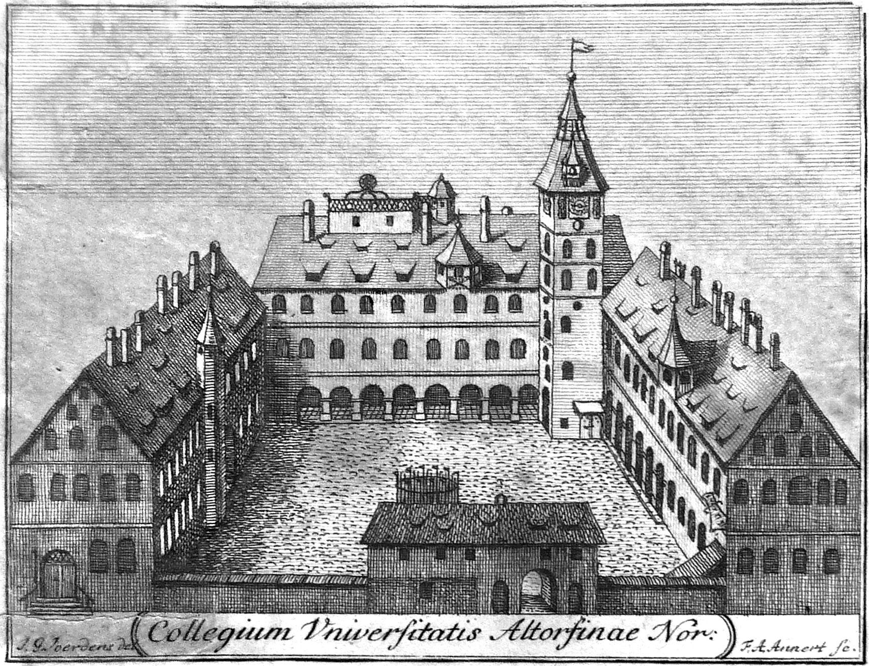 Collegium Universitatis Altorfinae Nor. Gesamtansicht
