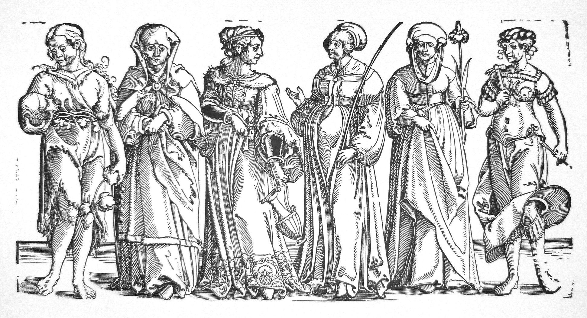 Sechs Frauen des Alten Testaments Gesamtansicht
