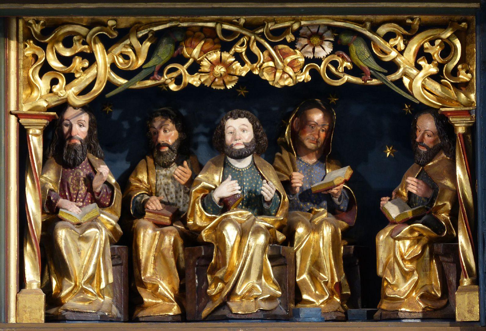 Zwickauer Hochaltarretabel Predella, Schnitzwerk, rechtes Apostolat