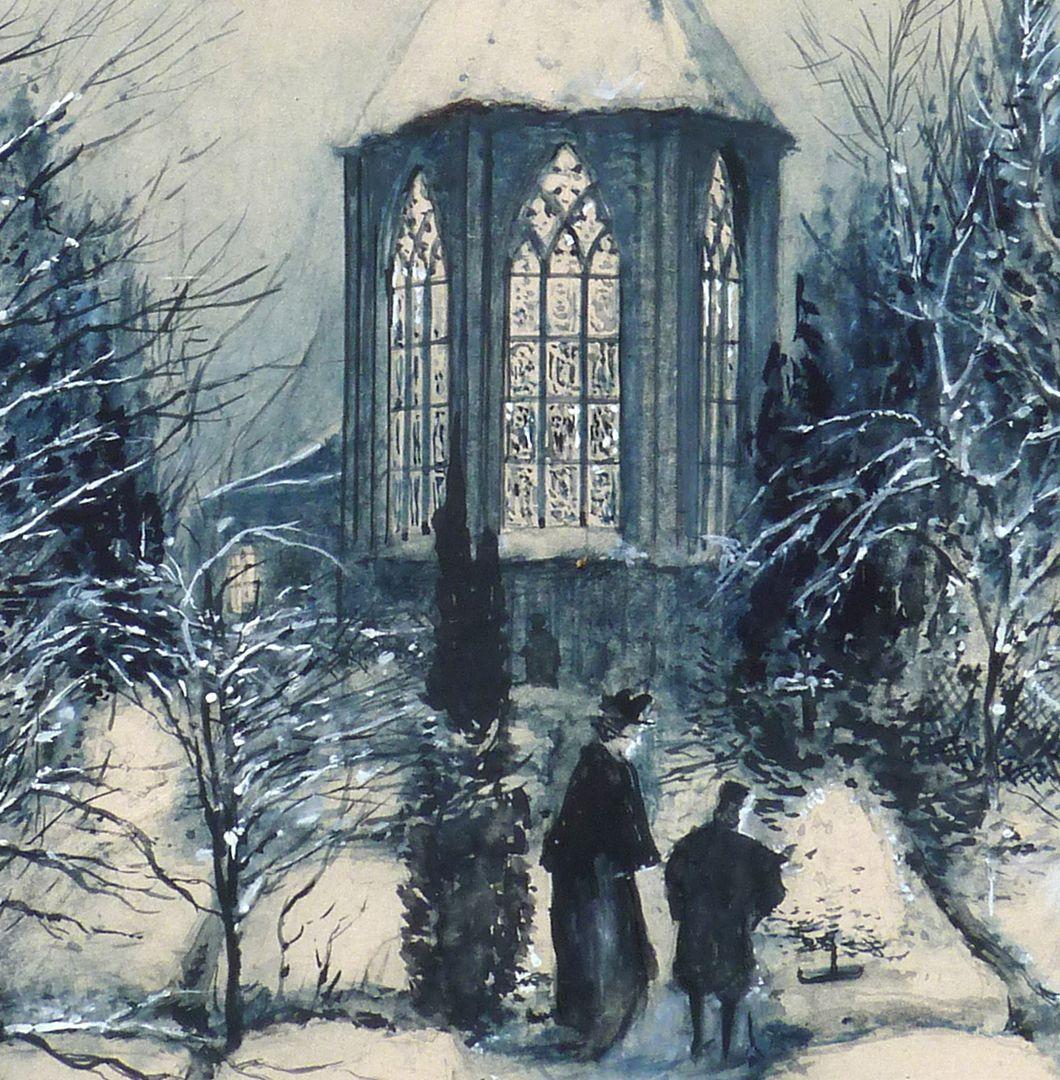 St. Johanniskirche im Winter Detailansicht