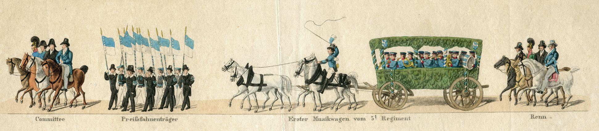 Das Volksfest in Nürnberg. II. erste Zeile von oben