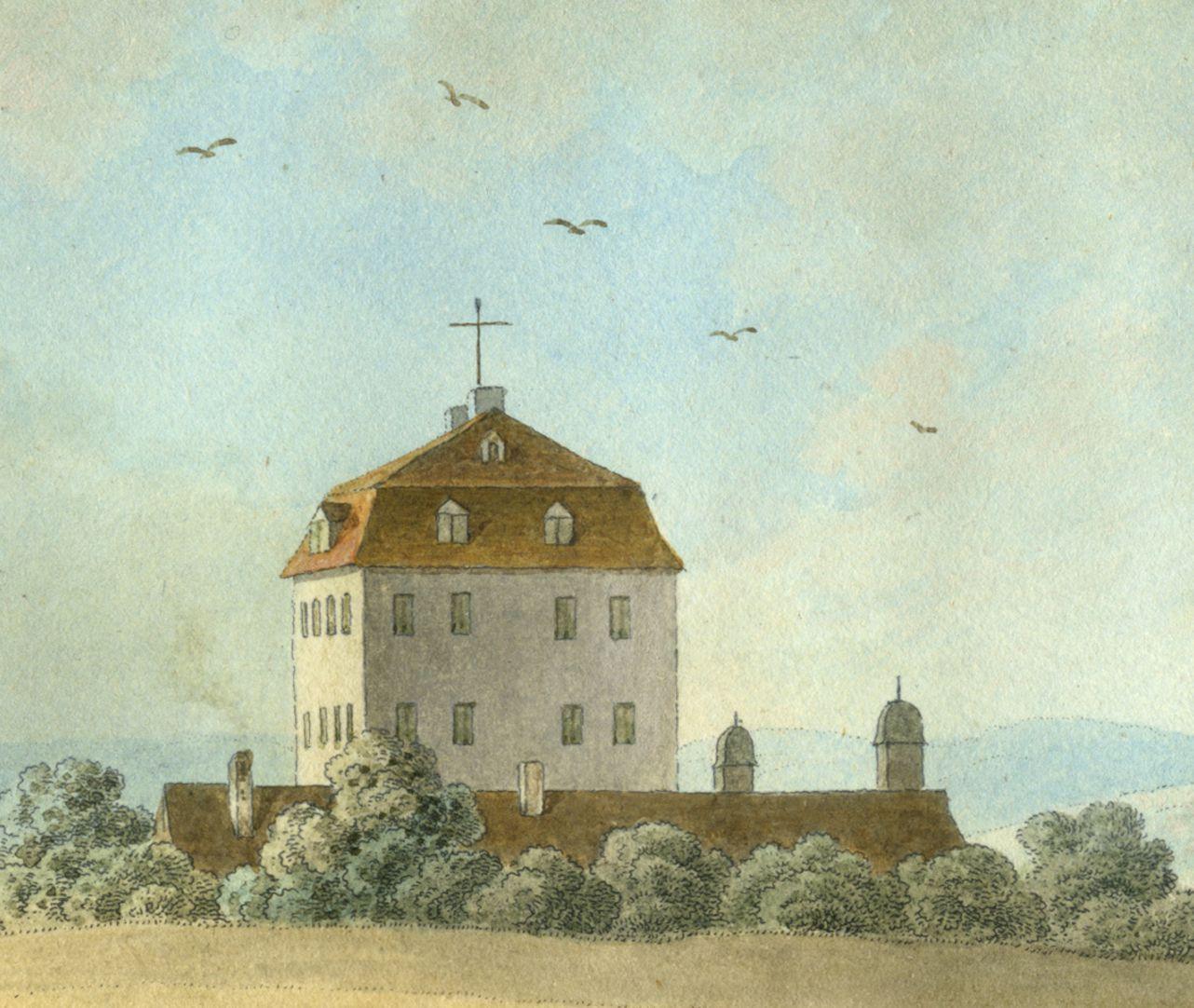 Thumenberg Detailansicht mit Herrensitz Thumenberg