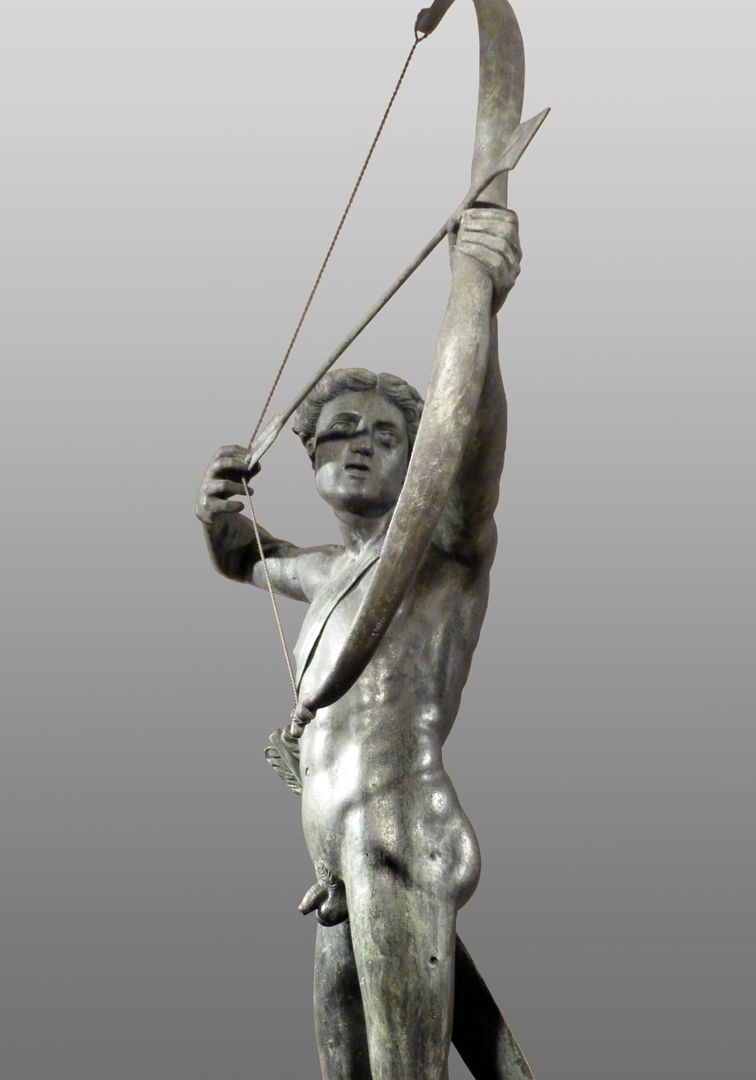Apollobrunnen Apoll als Bogner
