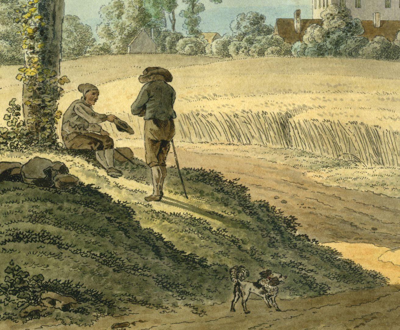 Thumenberg Detailansicht mit Staffage am linken unteren Bildrand