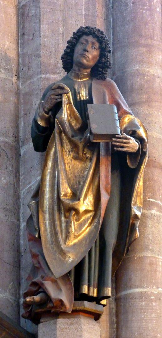 Assistenzfigur Chorpfeiler mit hl. Johannes