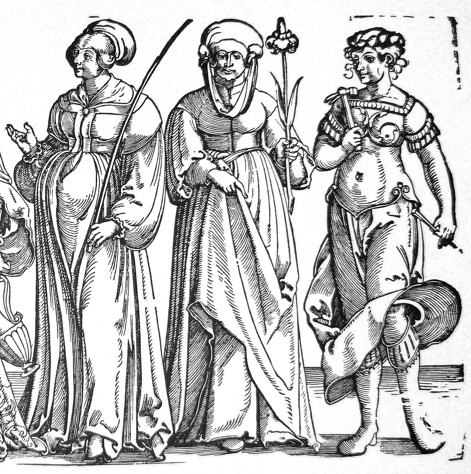 Sechs Frauen des Alten Testaments rechte Blatthälfte
