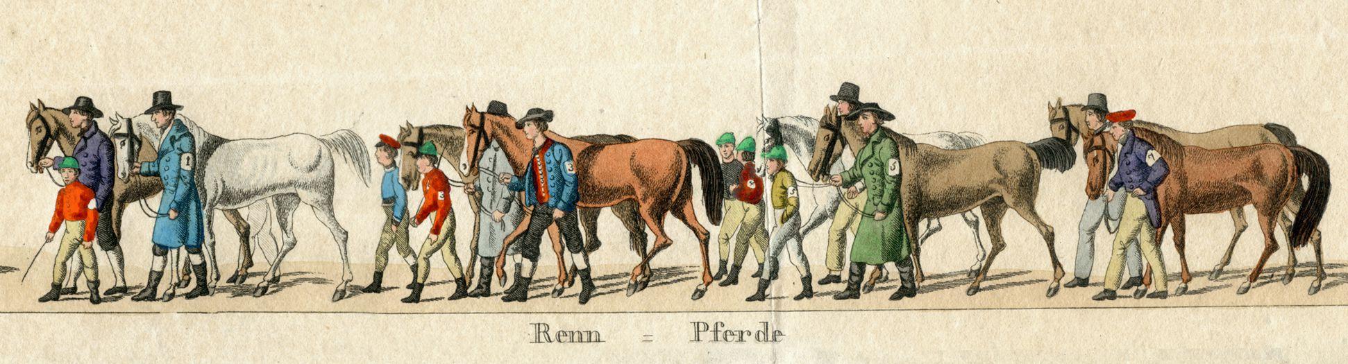 Das Volksfest in Nürnberg. II. zweite Zeile von oben, Renn = Pferde