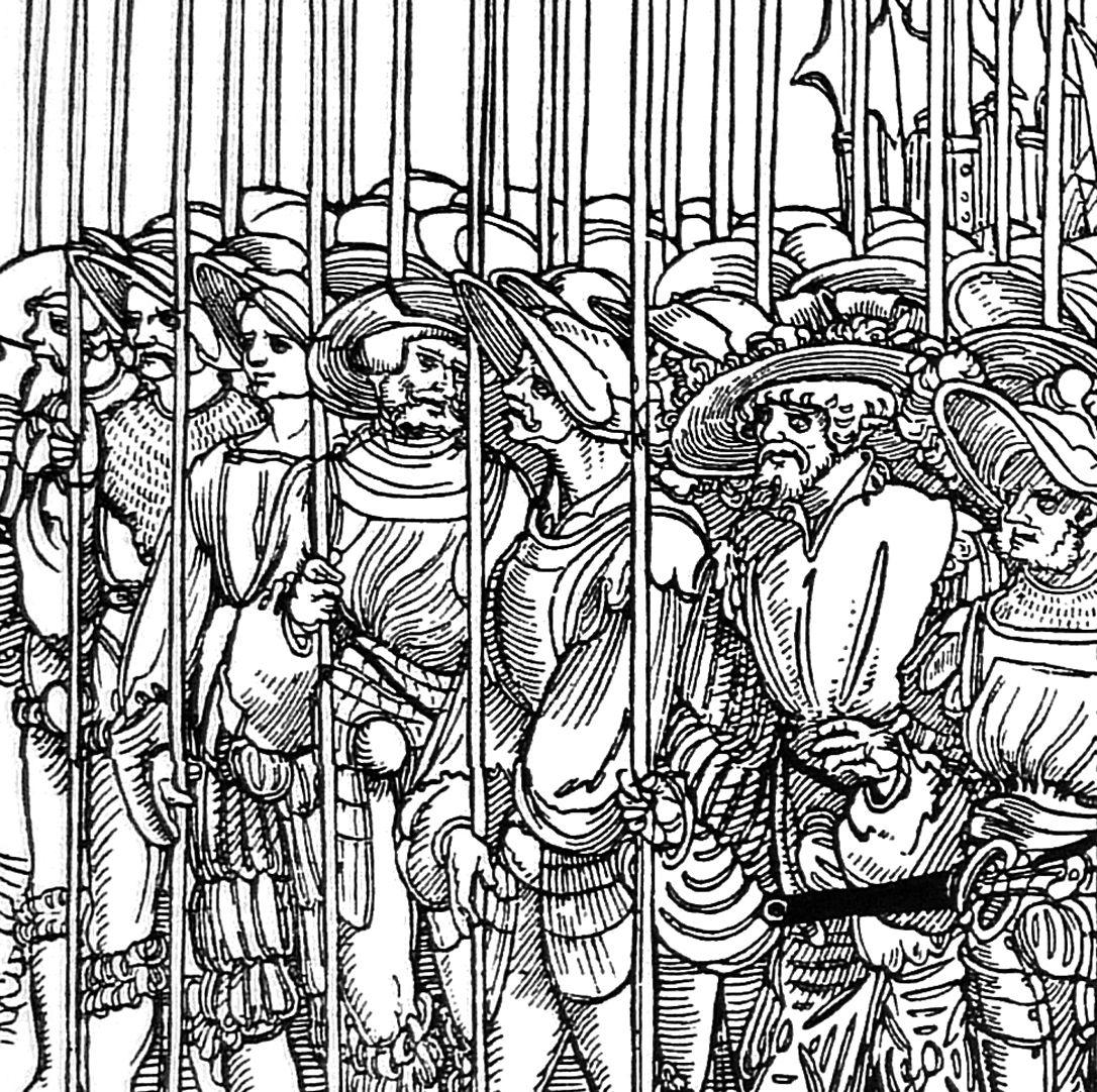 Die Belagerung Münsters fünftes siebtel, Detail