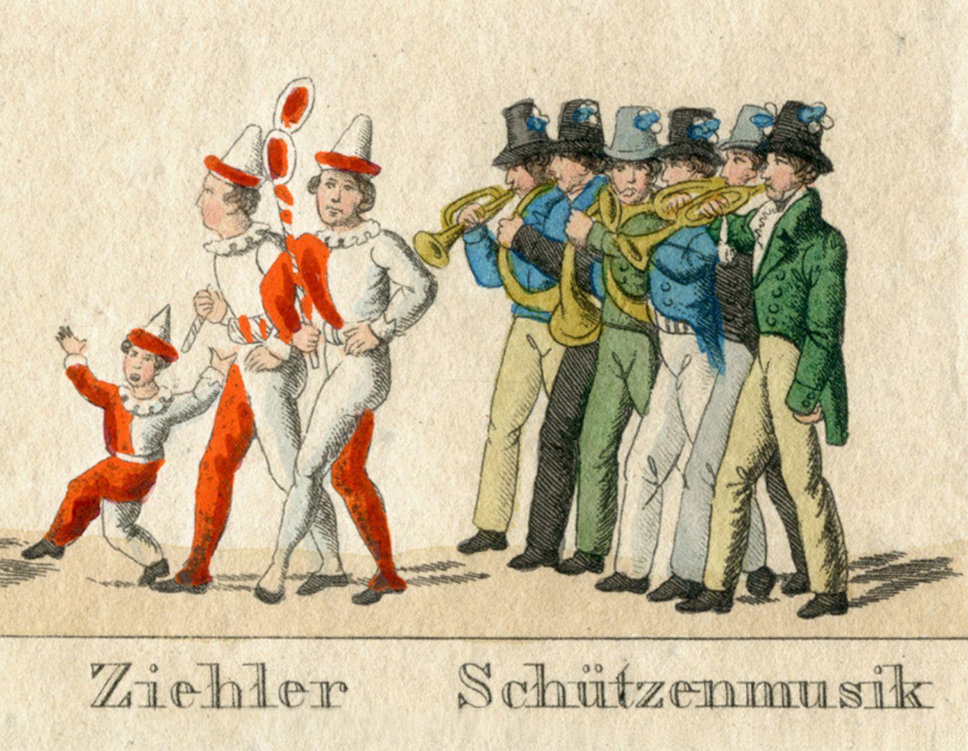 Das Volksfest in Nürnberg. II. zweite Zeile von oben, Ziehler   Schützenmusik