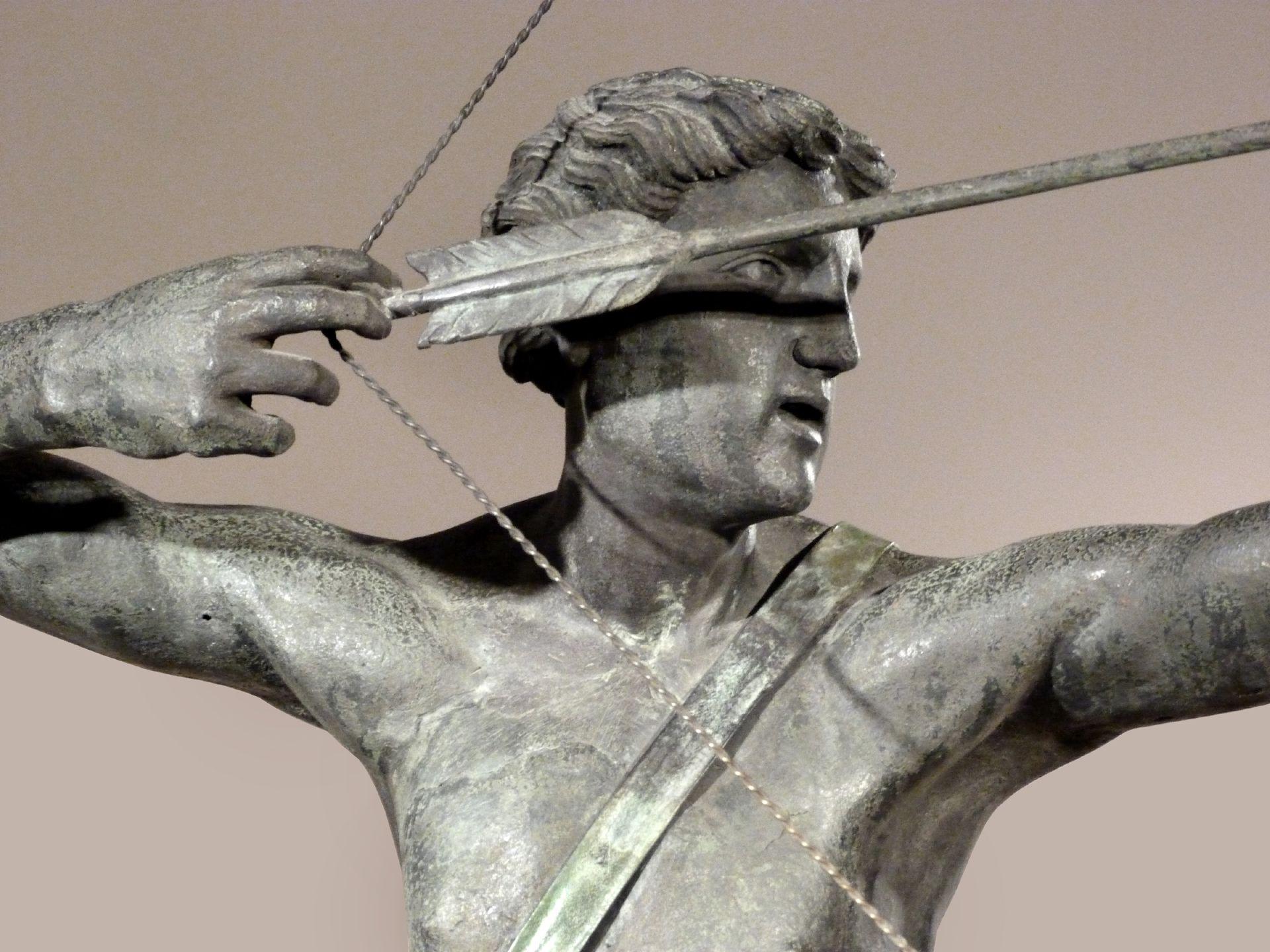 Apollobrunnen Apoll als Bogner, Detail