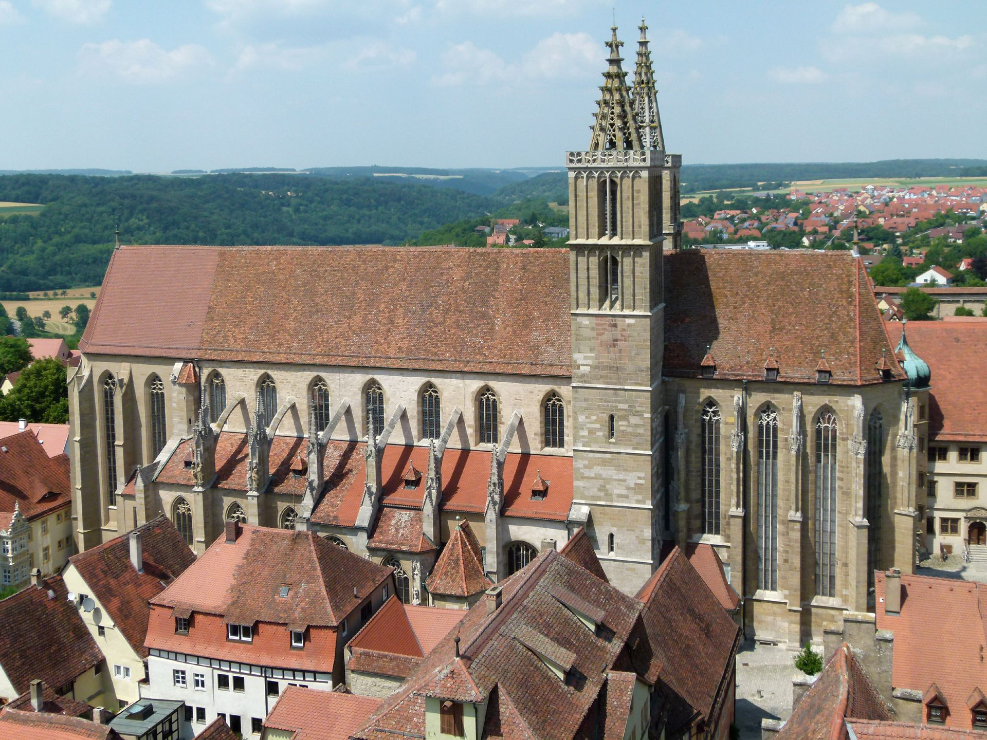 St. Jakob (Rothenburg o.d. Tauber) Südansicht