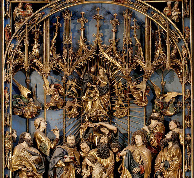 Marienaltar Schrein mit der Aufnahme Marias in den Himmel