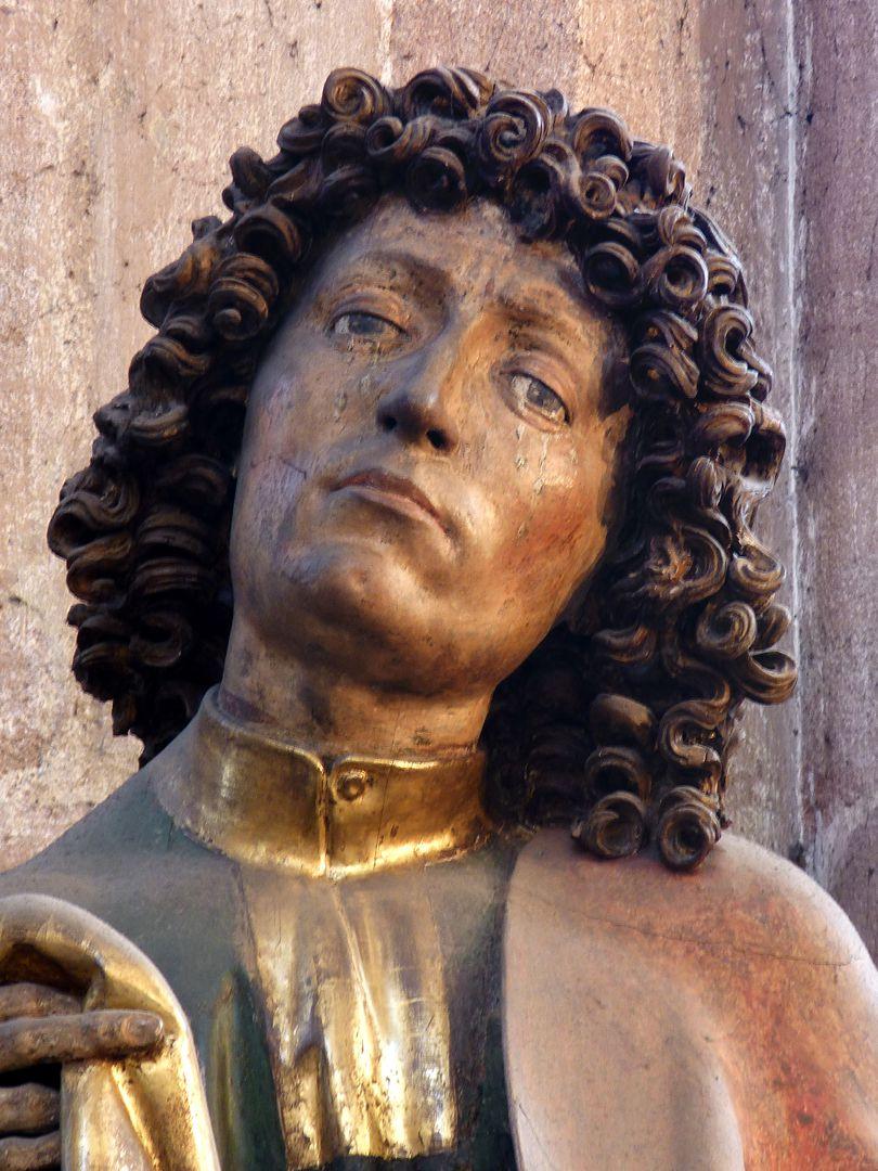 Assistenzfigur hl. Johannes, Kopf
