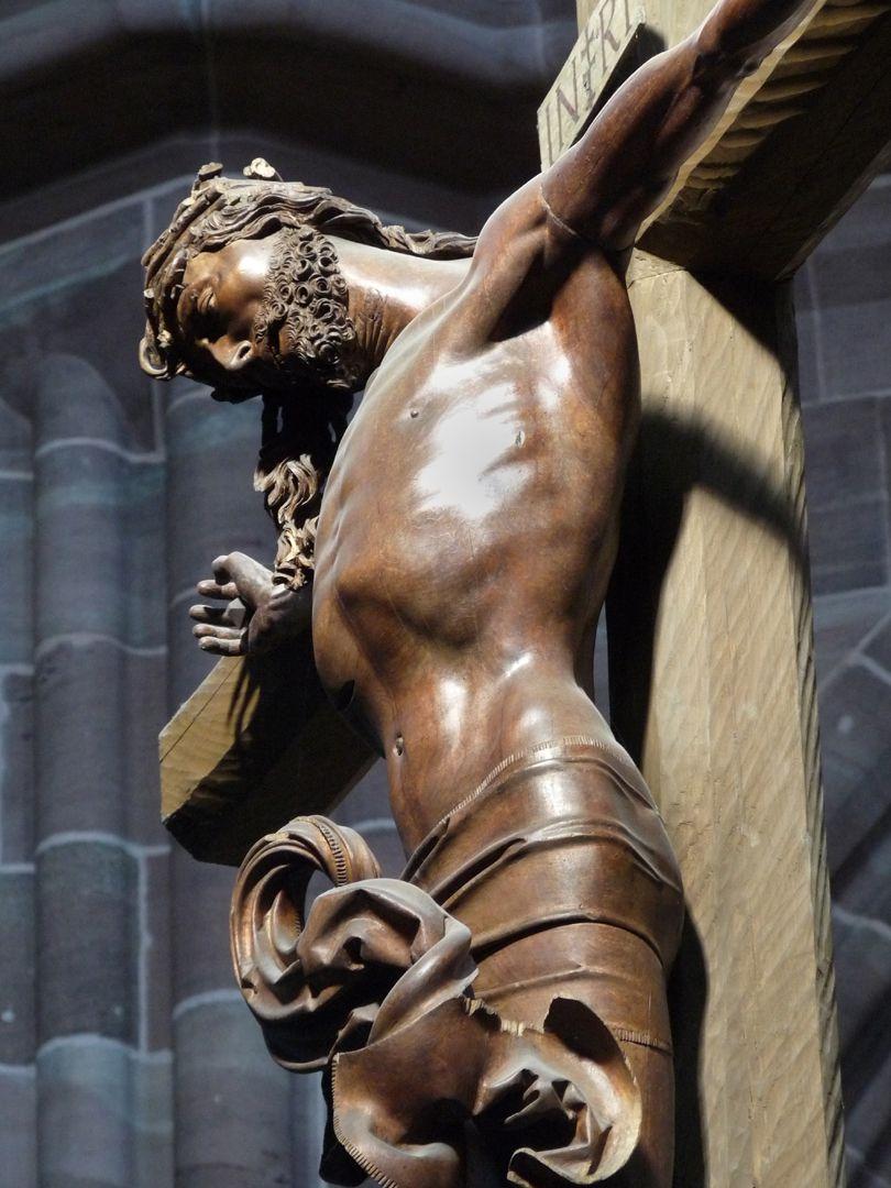 Kruzifixus Oberkörper, Seitenansicht