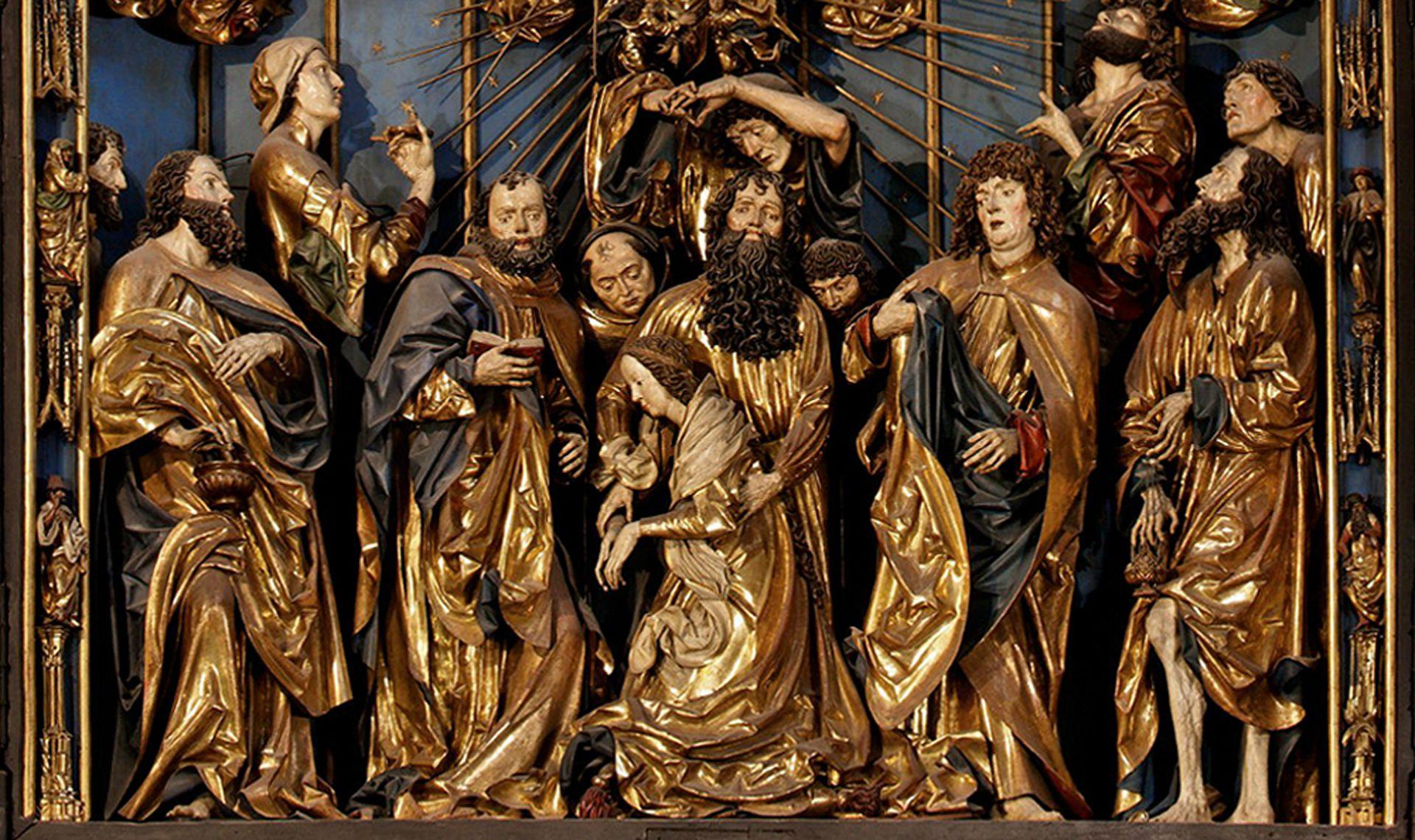 Marienaltar Schrein mit Entschlafung Marias im Apostelkreis