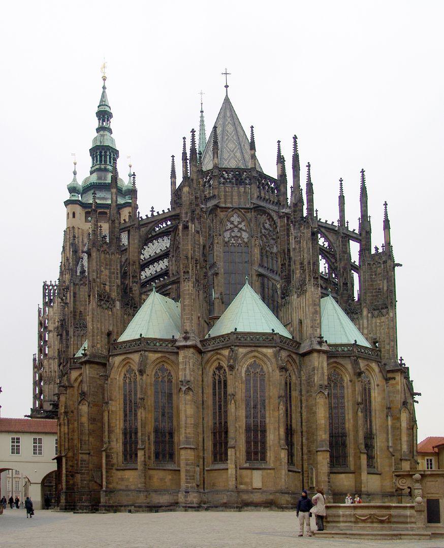 Prag, Veitsdom Chor / Obergaden und Strebewerk von Peter Parler