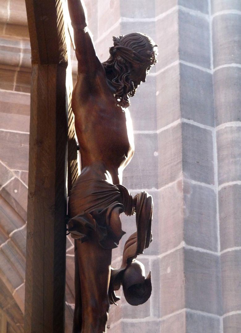 Kruzifixus Seitenansicht