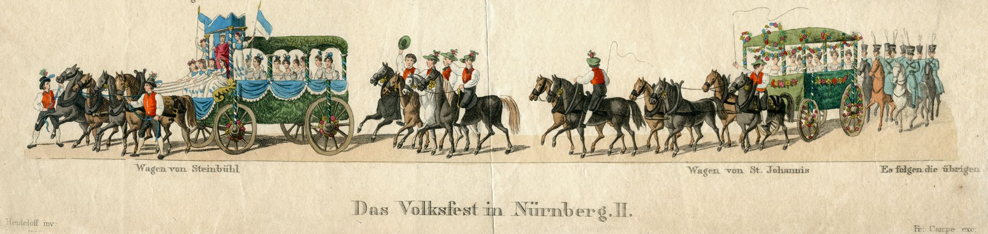 Das Volksfest in Nürnberg. II. vierte Zeile von oben
