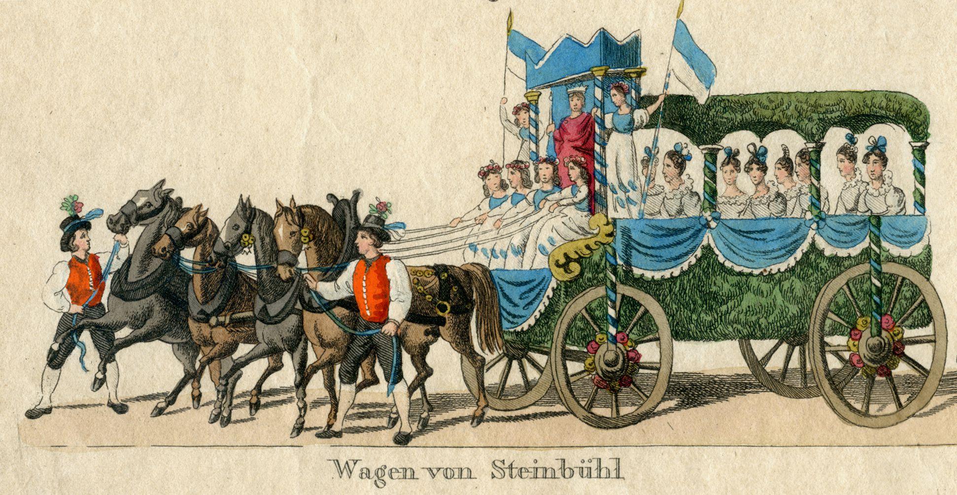 Das Volksfest in Nürnberg. II. vierte Zeile von oben, Wagen von Steinbühl