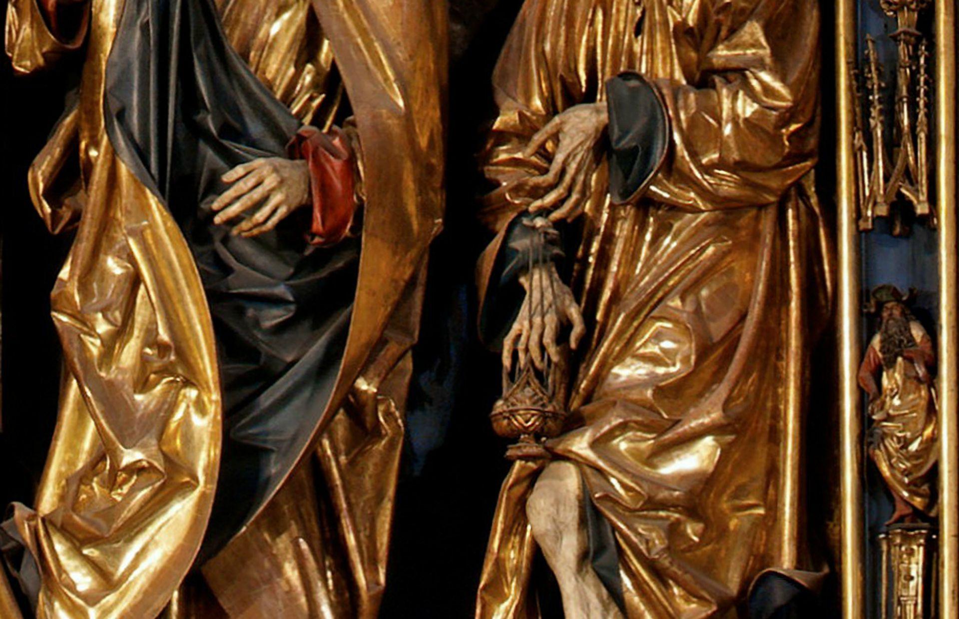 Marienaltar Schreindetail mit Händen