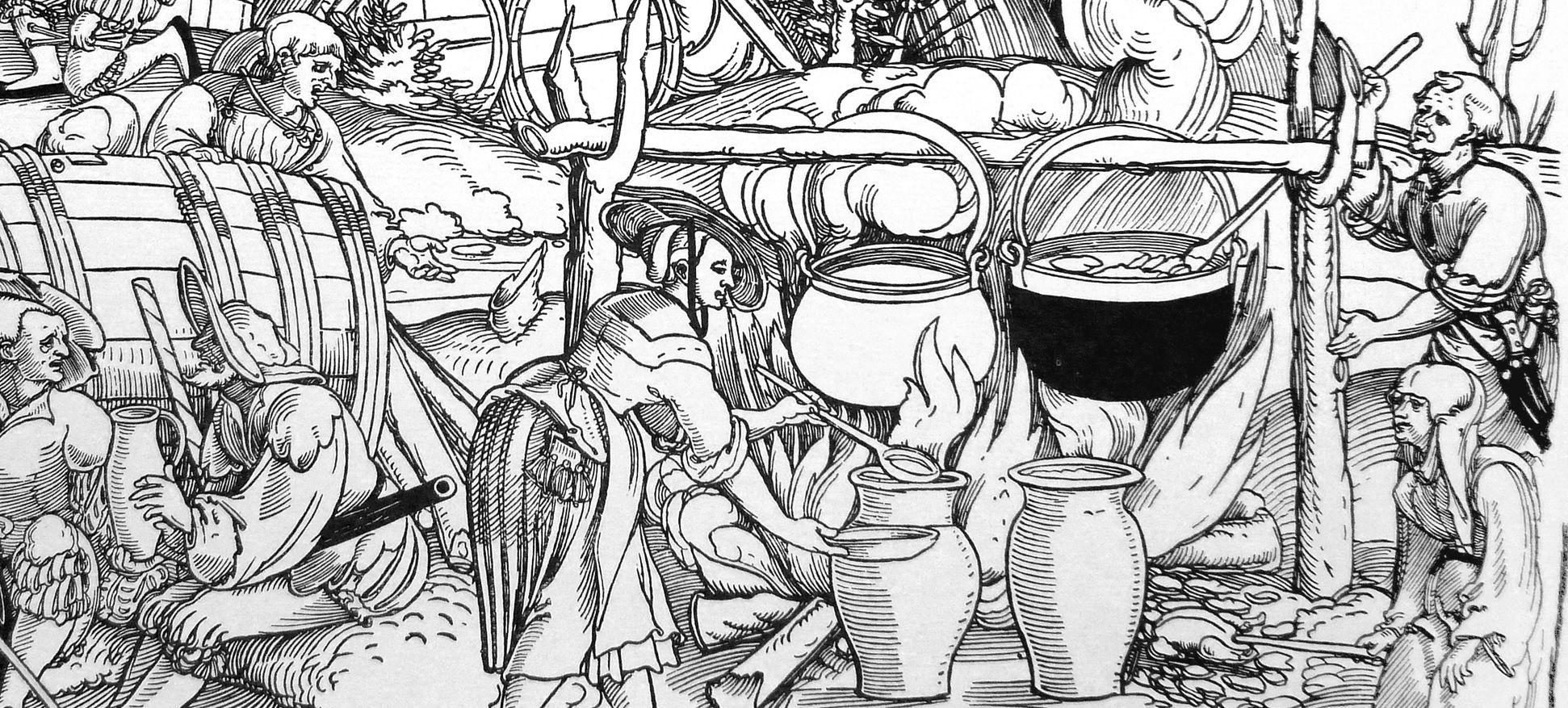 Die Belagerung Münsters siebtes siebtel, Detail