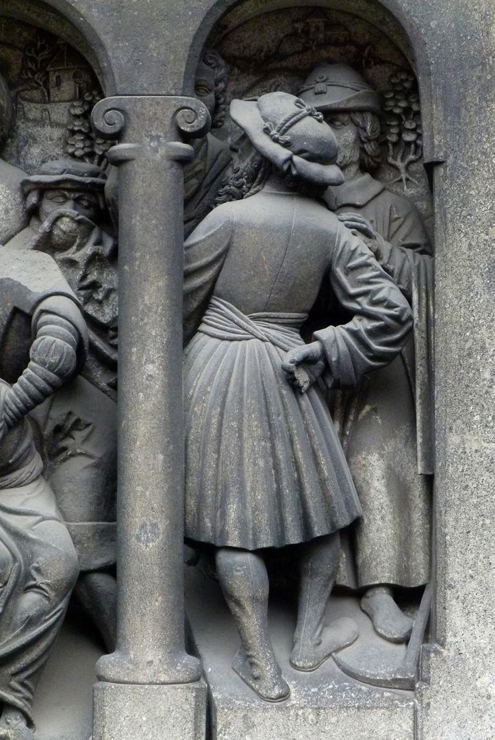 Auferstehung des Lazarus Figur in der rechten Bogenstellung