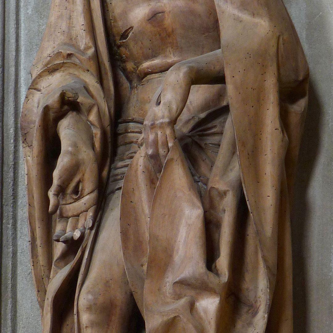 Maria, Christus, Johannes Schmerzensmann, Detail