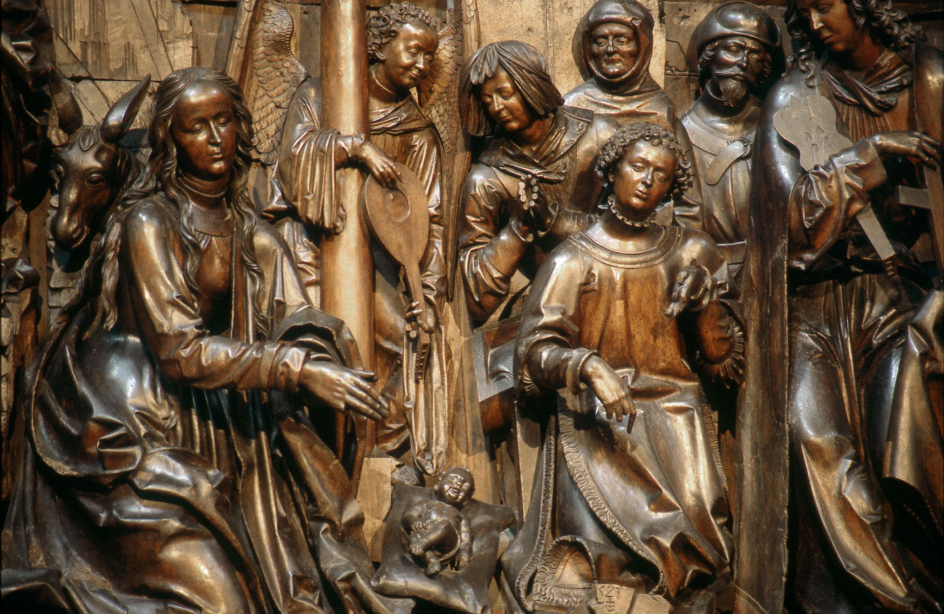 Retabel aus der ehemaligen Karmelitenkirche Schrein, Detail