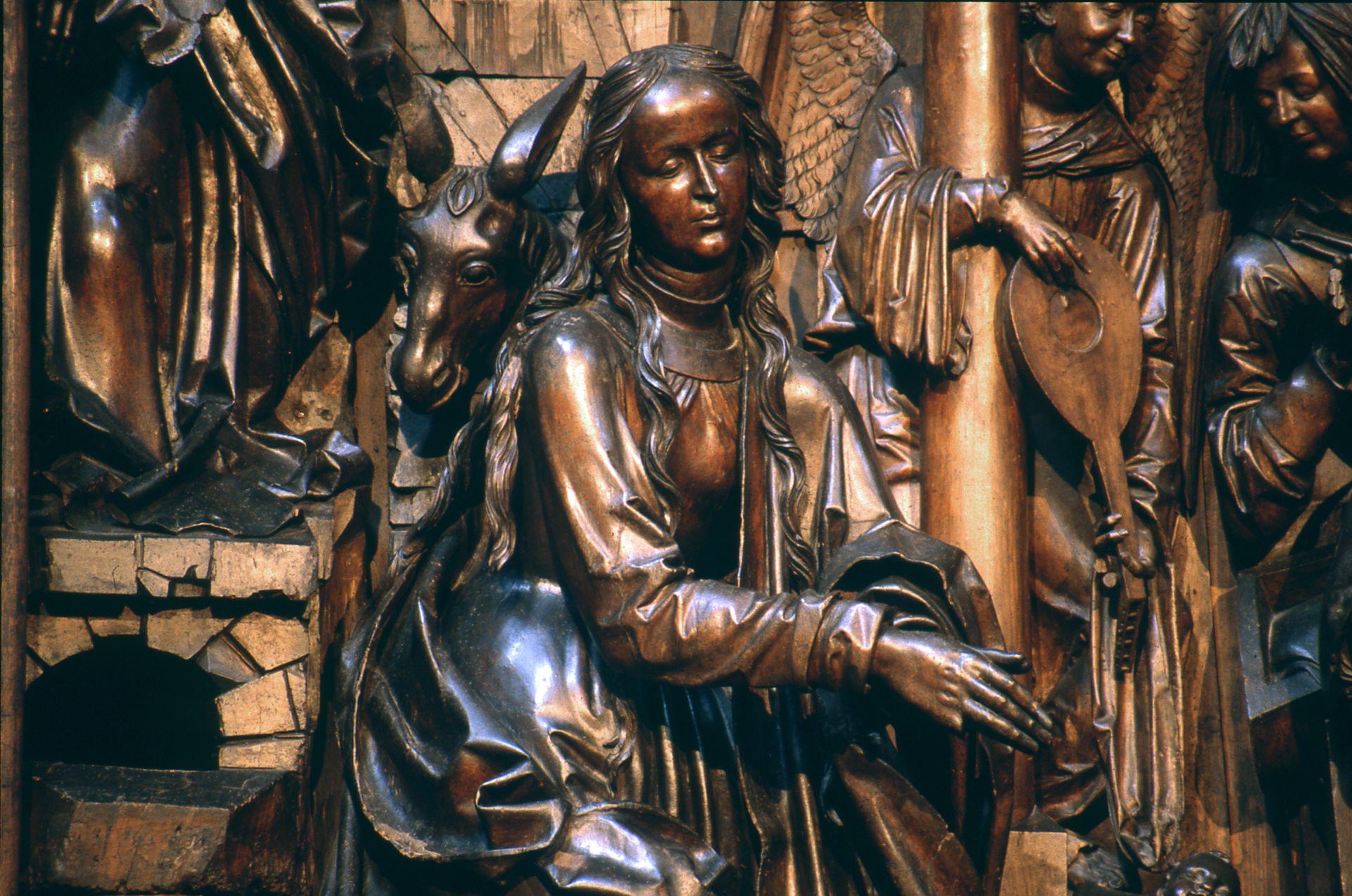 Retabel aus der ehemaligen Karmelitenkirche Schrein, Maria