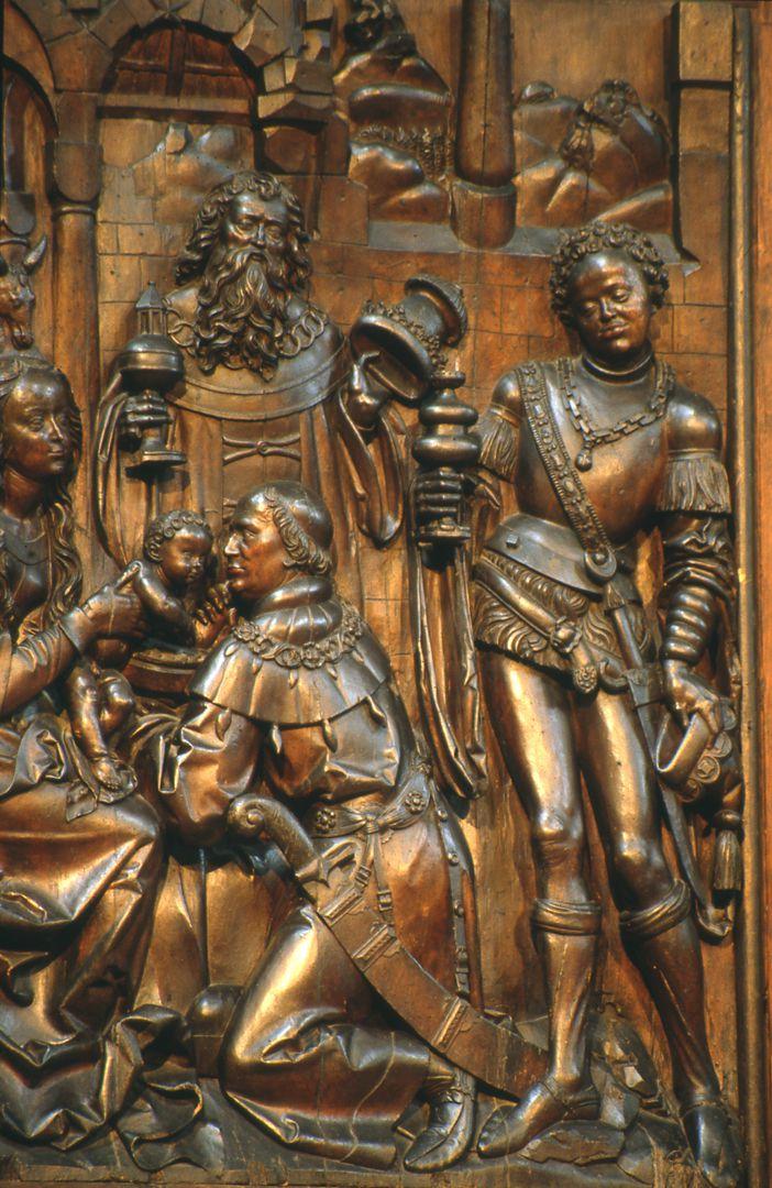 Retabel aus der ehemaligen Karmelitenkirche Flügel, Anbetung der Könige
